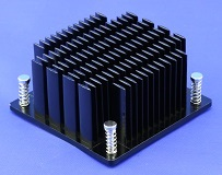 Elliptical Pin Heat Sink with Push Pins