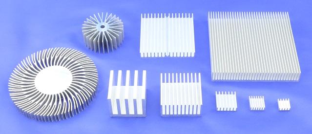 Custom Extruded Heat Sink - Plate Fin or Cross Cut Heatsinks