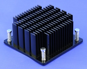 Elliptical Pin Heatsink with Push Pins