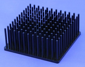 Round Pin Heat Sinks Cold Forged From Pure Aluminum