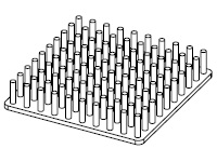 S801-5000-095 Precision Forged Round Pin Heat Sink