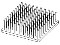 S801-5000-145 Precision Forged Round Pin Heat Sink