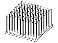 S801-5000-279 Precision Forged Round Pin Heat Sink