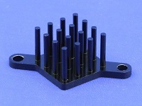 S802-1900-145 Round Pin Heat Sink with Push Pins