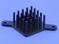 S802-2700-145 Round Pin Heat Sink with Push Pins