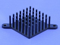 S802-3300-145 Round Pin Heat Sink with Push Pins