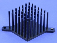 S802-3300-245 Round Pin Heat Sink with Push Pins