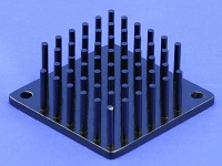 S802-4000-145 Round Pin Heat Sink with Push Pins