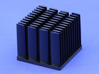 S803-3500-245 Cold Forged Elliptical Pin Heat Sink