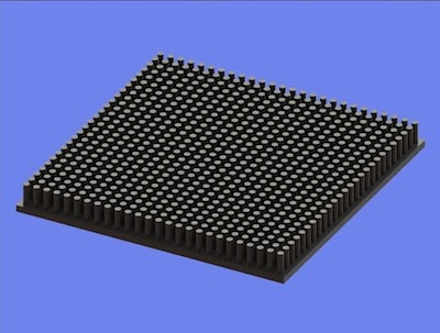 S805-100-100-10 Precision Forged Round Pin Heat Sink