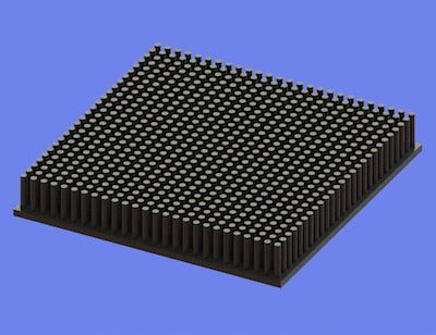 S805-100-100-15 Precision Forged Round Pin Heat Sink
