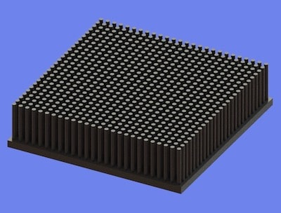 S805-100-100-25 Precision Forged Round Pin Heat Sink