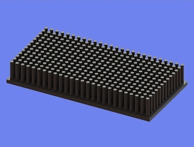 S805-100-50-15 Precision Forged Round Pin Heat Sink