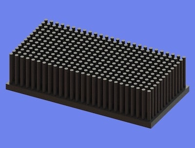 S805-100-50-25 Precision Forged Round Pin Heat Sink