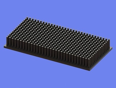 S805-120-60-15 Precision Forged Round Pin Heat Sink