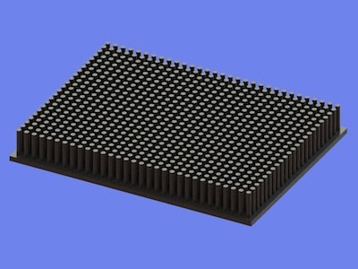 S805-120-90-15 Precision Forged Round Pin Heat Sink