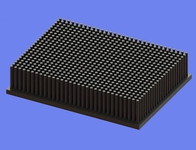 S805-120-90-25 Precision Forged Round Pin Heat Sink