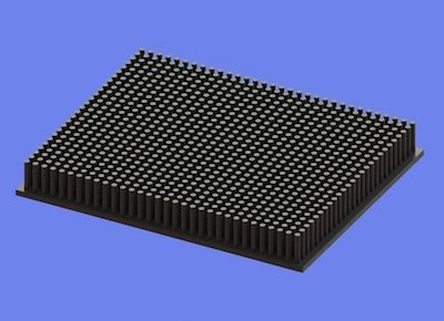 S805-125-100-15 Precision Forged Round Pin Heat Sink