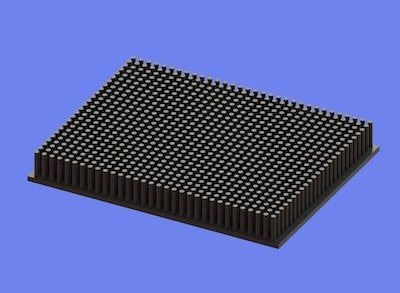 S805-125-95-15 Precision Forged Round Pin Heat Sink