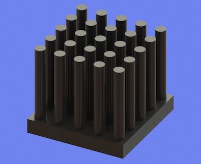 S805-17-17-15 Precision Forged Round Pin Heat Sink