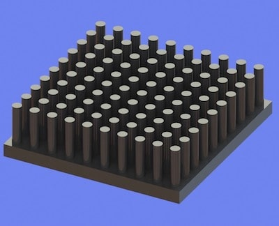 S805-35-35-10 Precision Forged Round Pin Heat Sink