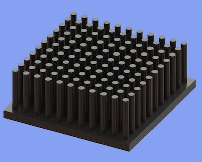 S805-40-40-15 Precision Forged Round Pin Heat Sink