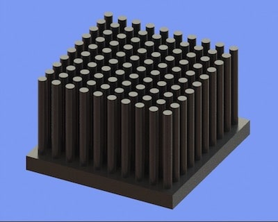 S805-40-40-25 Precision Forged Round Pin Heat Sink