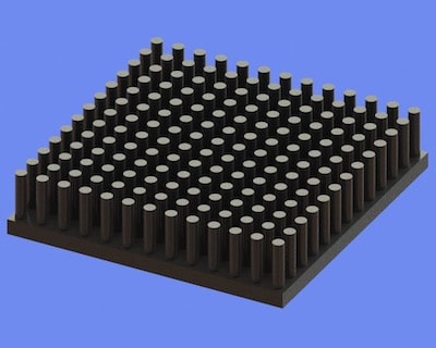 S805-45-45-10 Precision Forged Round Pin Heat Sink