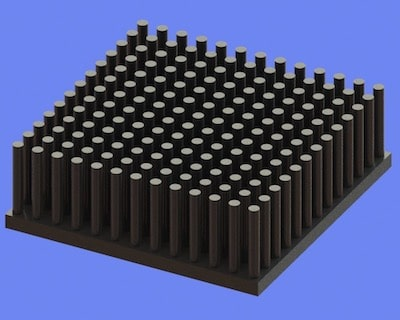 S805-45-45-15 Precision Forged Round Pin Heat Sink