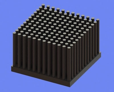 S805-45-45-30 Precision Forged Round Pin Heat Sink