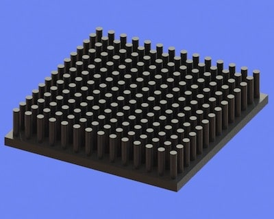 S805-50-50-10 Precision Forged Round Pin Heat Sink
