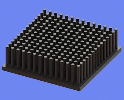 S805-50-50-15 Precision Forged Round Pin Heat Sink