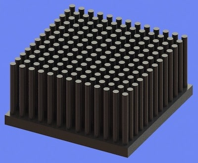 S805-50-50-25 Precision Forged Round Pin Heat Sink