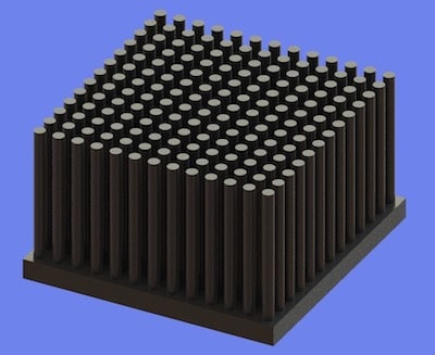 S805-50-50-30 Precision Forged Round Pin Heat Sink