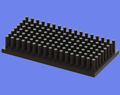 S805-60-30-10 Precision Forged Round Pin Heat Sink