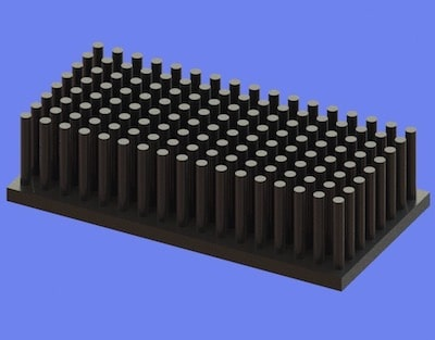 S805-60-30-15 Precision Forged Round Pin Heat Sink