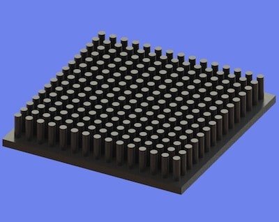 S805-60-60-10 Precision Forged Round Pin Heat Sink