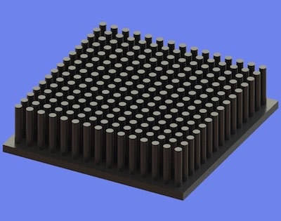 S805-60-60-15 Precision Forged Round Pin Heat Sink