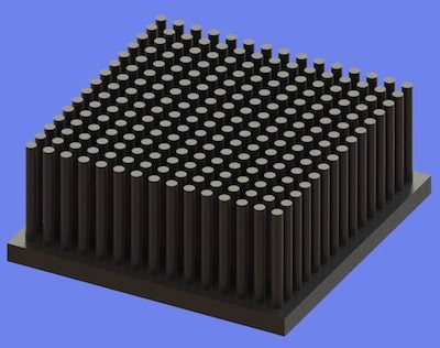 S805-60-60-25 Precision Forged Round Pin Heat Sink