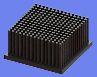 S805-60-60-30 Precision Forged Round Pin Heat Sink