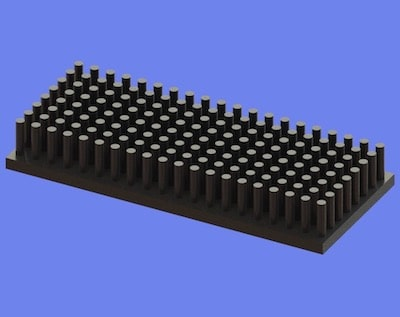 S805-70-30-10 Precision Forged Round Pin Heat Sink