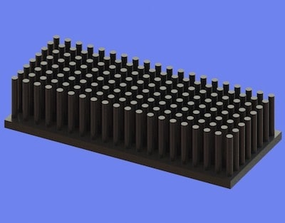 S805-70-30-15 Precision Forged Round Pin Heat Sink