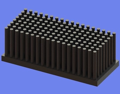 S805-70-30-25 Precision Forged Round Pin Heat Sink