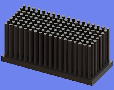 S805-70-30-30 Precision Forged Round Pin Heat Sink