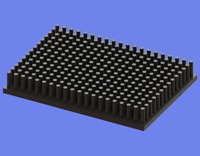 S805-70-50-10 Precision Forged Round Pin Heat Sink
