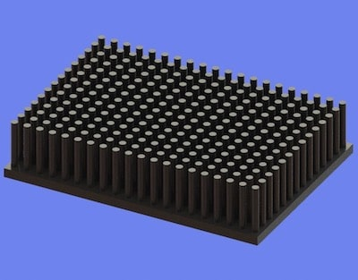S805-70-50-15 Precision Forged Round Pin Heat Sink