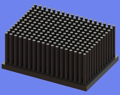 S805-70-50-30 Precision Forged Round Pin Heat Sink