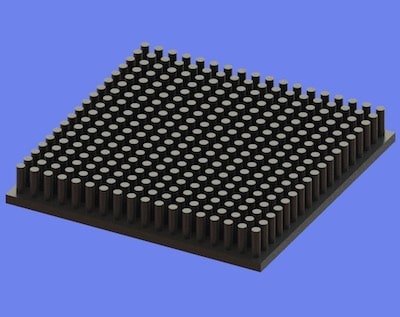 S805-70-70-10 Precision Forged Round Pin Heat Sink