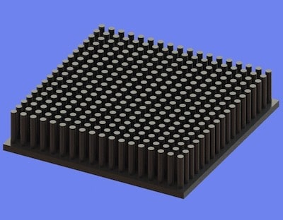 S805-70-70-15 Precision Forged Round Pin Heat Sink