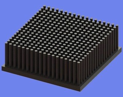 S805-70-70-25 Precision Forged Round Pin Heat Sink